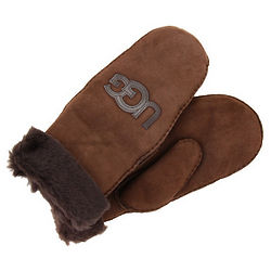 UGG Logo Patch Mittens with Turn Cuff