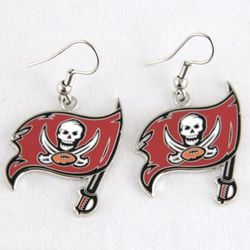 Tampa Bay Buccaneers Logo Wire Earrings
