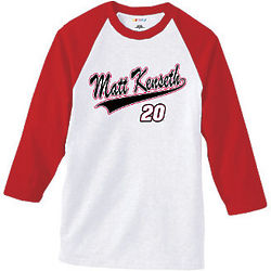 Matt Kenseth #20 Classic Baseball Tee