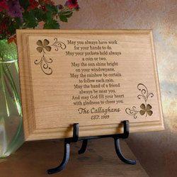 Personalized Irish Blessing Wooden Plaque