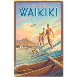 Waikiki Kerne Erickson Metal Print Sign