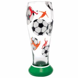 Hand-Painted Soccer Pilsner Glass