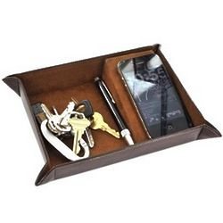 2 Part Leather Personal Valet Organizer