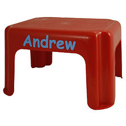 Personalized Red Junior Step Stool