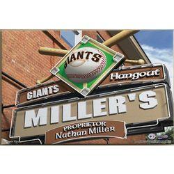Personalized San Francisco Giants Pub Sign Canvas Print