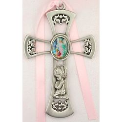 Girl's Guardian Angel Crib Cross
