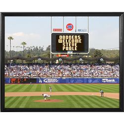 Los Angeles Dodgers Personalized Scoreboard 11x14 Framed Canvas