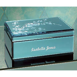 Etched Flowers Personalized Box