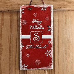 Winter Wonderland Personalized Holiday Wall Plaque
