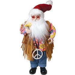 Standing Hippie Santa