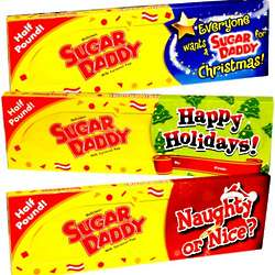 Large Sugar Daddy Milk Caramel Pop with Holiday Greeting