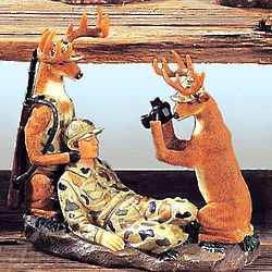 Deer Becomes Hunter Sculpture
