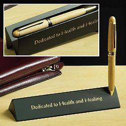 Medical Professional Wood Pen and Case Gift Set
