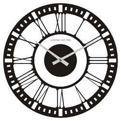 Classic Clear Glass Wall Clock