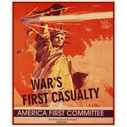 World War II America First Committee Personalized Art Print