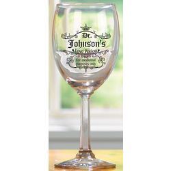 Personalized Love Potion Stemmed Wine Glasses