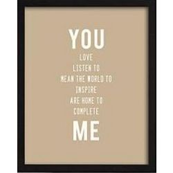 Personalized You and Me Framed Wall Art