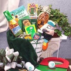 Golfer's Caddy Snack Gift Basket