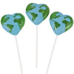 12 Love the Earth Heart Suckers