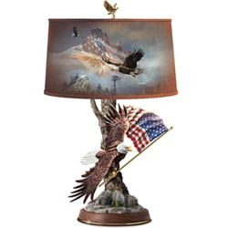 Patriotic Eagle Art Table Lamp