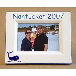 Personalized Hand-Painted Whale Picture Frame