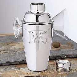 Personalized Cocktail Shaker With Monogram