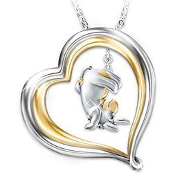 Heart-Shaped Eeyore Pendant Necklace