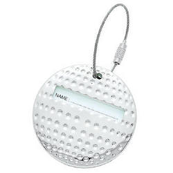 Personalized Silver Golf Ball Shaped Luggage Tag
