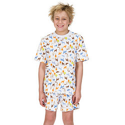 Dog Park Short Pajamas for Boys