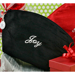 Personalized Small Holiday Silk Cosmetic Bag