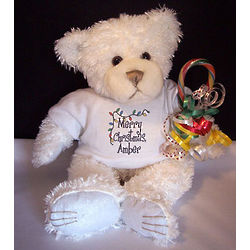 Personalized Christmas Lights T-Shirt Teddy Bear