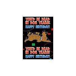 Dog Years Birthday Gift Wrap