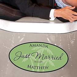 Beach Wedding Window Cling