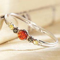 Tricolor Baltic Amber Bracelet