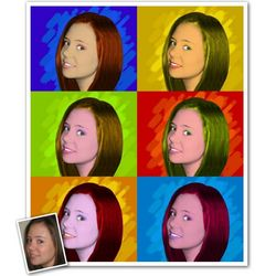 Pop Art 6 Panel Print from Photo