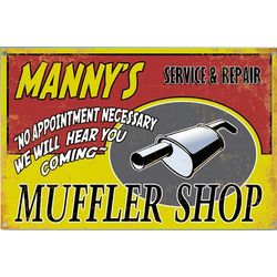 Personalized Muffler Shop Garage Sign