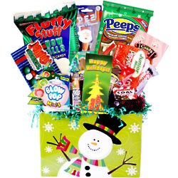 Making Spirits Bright Deluxe Christmas Snacks Gift Basket