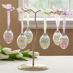 Easter Egg Ornament Tree Display Stand