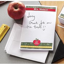 Personalized Teacher Stationery with Apple Design