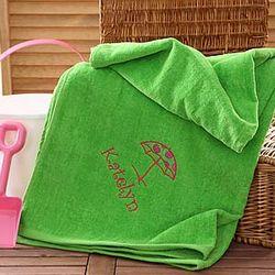 Green Personalized Beach Fun Beach Towel