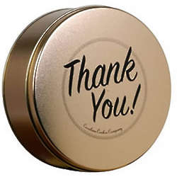 2 Dozen Gourmet Sugar Free Cookies in Thank You Gift Tin