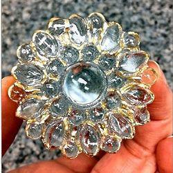 Incredible Edible Sugar Diamond Brooch with Silver Edge