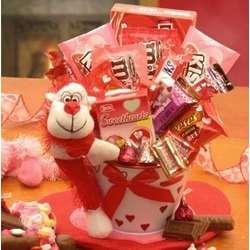 Monkey Love Valentine's Gift Pail