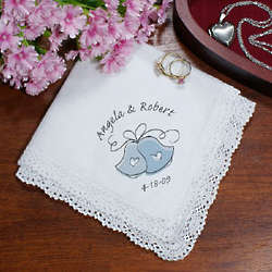 Wedding Bells Personalized Wedding Handkerchief