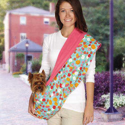 Fruit Frenzy Reversible Sling Carrier for Pets
