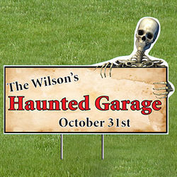 Personalized Halloween Skeleton Yard Sign