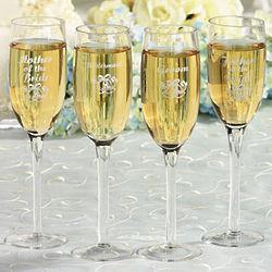 Groomsman Glass Champagne Flute