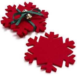 Snowflake Coasters Set