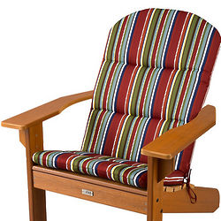 Fiesta Red Stripe Adirondack Chair Cushion