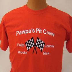 Racer's Pit Crew Embroidered Shirt